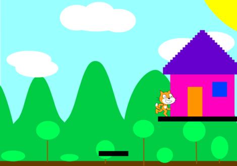 Scratchで作る横スクロールするプラットフォーマー・ゲーム