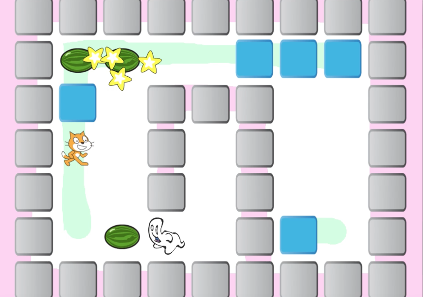 Scratchでボンバーマンっぽいゲームを再現してみる