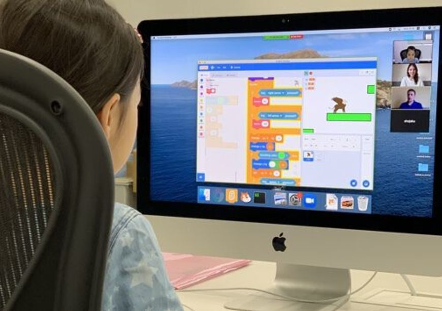 リモートによるプログラミング教室を開講しました
