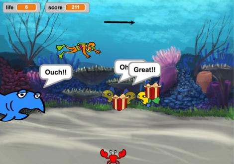 Scratchで作るシューティングゲームの例
